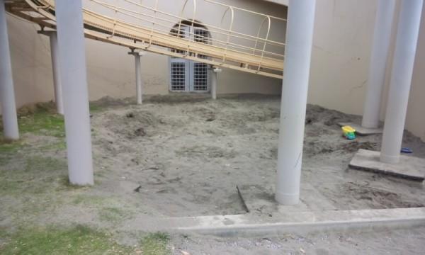 春日部の児童館エンゼルドームの砂場
