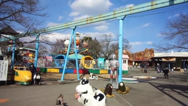 宇都宮動物園の遊園地エリア