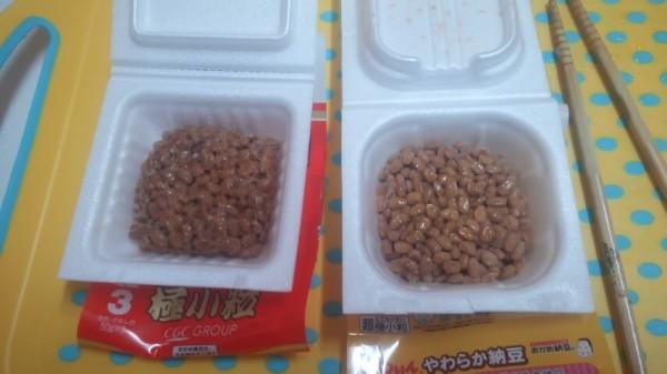 おかめ納豆極小粒とはなかっぱの納豆