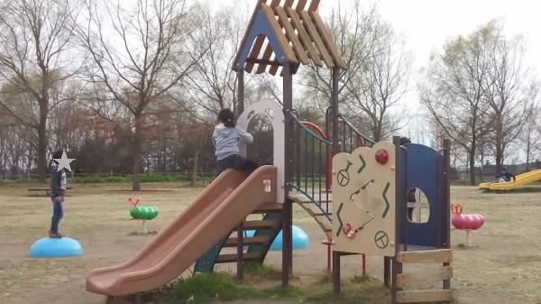 羽生水郷公園のコバトンひろばにある幼児向け遊具