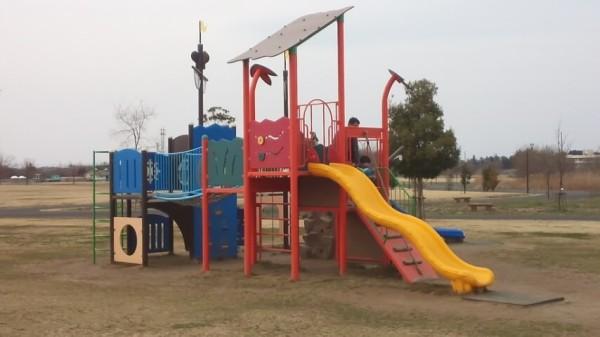 羽生水郷公園のわんぱく広場にある遊具のひとつ