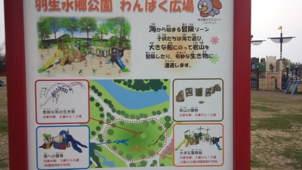 羽生水郷公園のわんぱく広場の看板