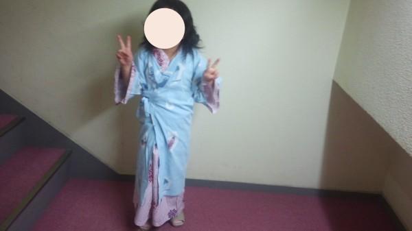 ホテルレオマの森の浴衣を着た5歳児