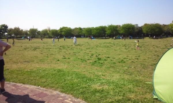 「アグリパークゆめすぎと」の芝生広場