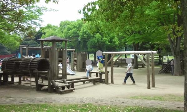 庄和総合公園のアスレチック