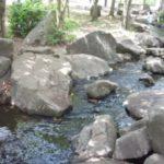 「庄和総合公園」の小川で水遊び!大きな噴水もあって小さい子から大きい子まで楽しめます。