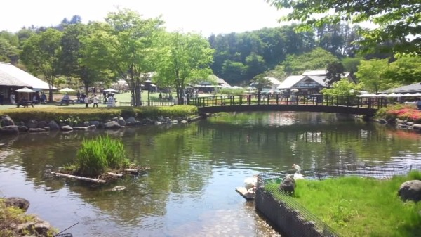 川場田園プラザにある池と橋