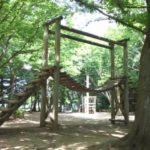 内牧公園は自然いっぱいの中でアスレチックを楽しめる、夏は木陰が涼しい公園でした。