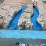 エンゼルドームのウォータースライダーと噴水広場の時間帯や年齢、利用方法などまとめ。