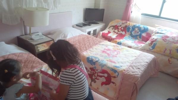プリキュアルームのベッド