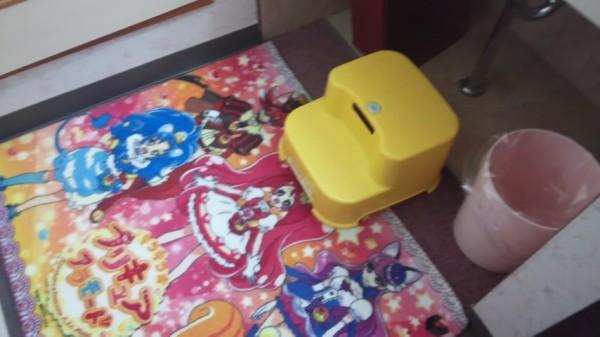 洗面台のプリキュアマット