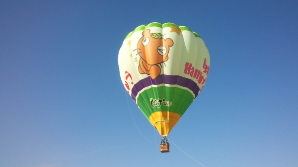 世界キャラクターさみっとin羽生の熱気球