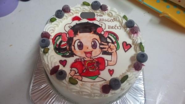 クックルンのアズキのキャラクターケーキ